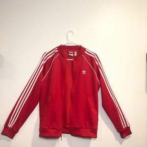 RARE NEVER WORN: Red Adidas track jacket.
